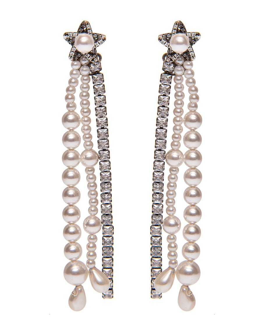 PEARLS AND CRYSTALS EARRINGS