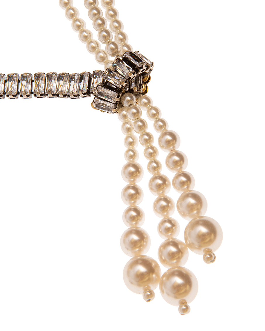 PEARLS AND CRYSTALS NECKLACES