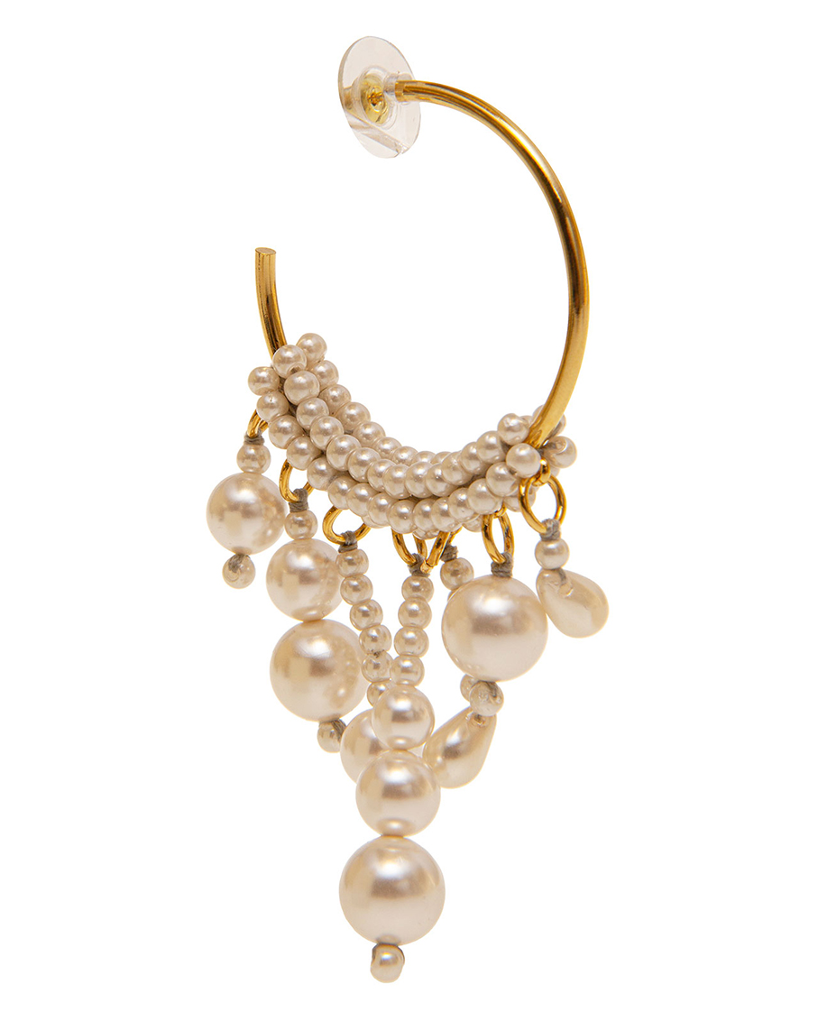 PEARLS & ANTIQUE GOLD EARRINGS