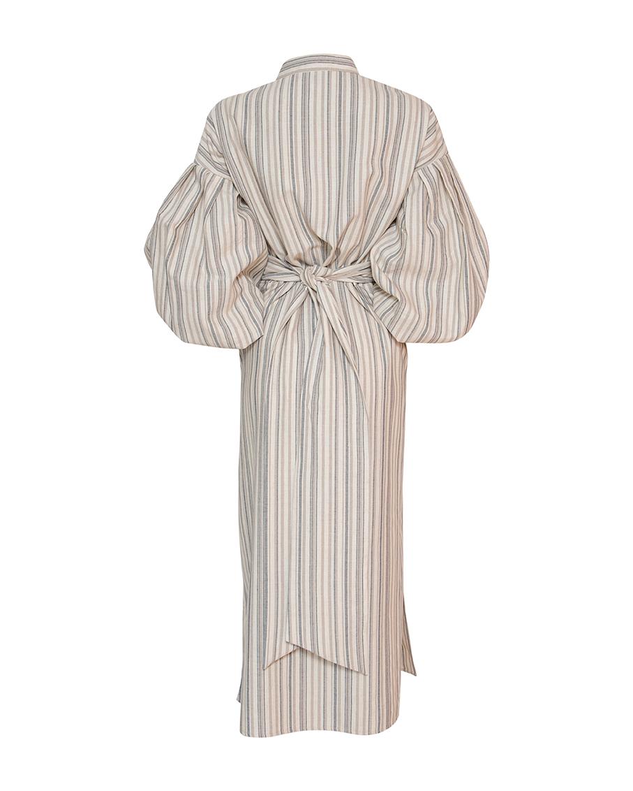 SOLEDAD DRESS STRIPPED BEIGE