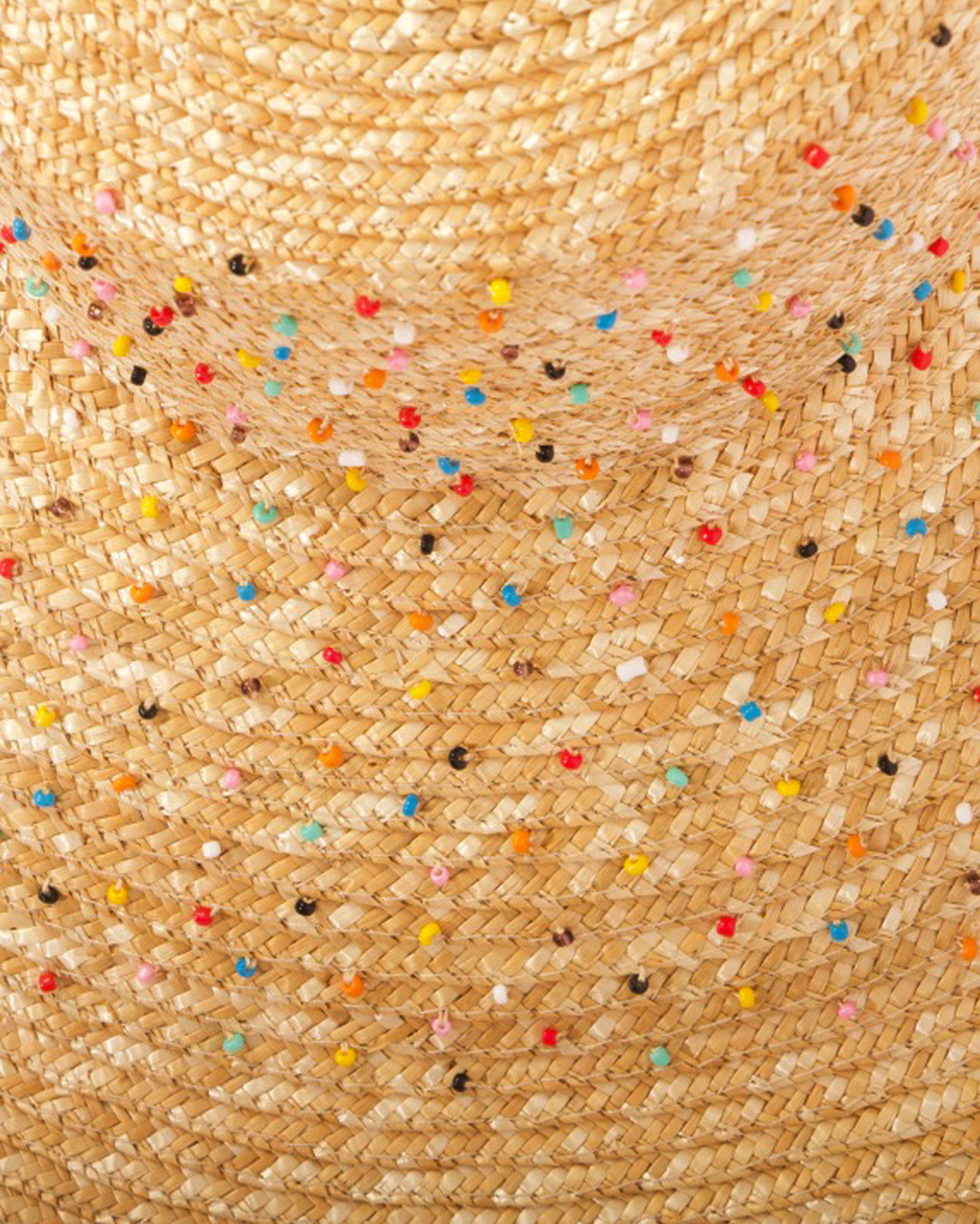 HAT FULLY EMBROIDERED WITH DOTS BEADS MULTI