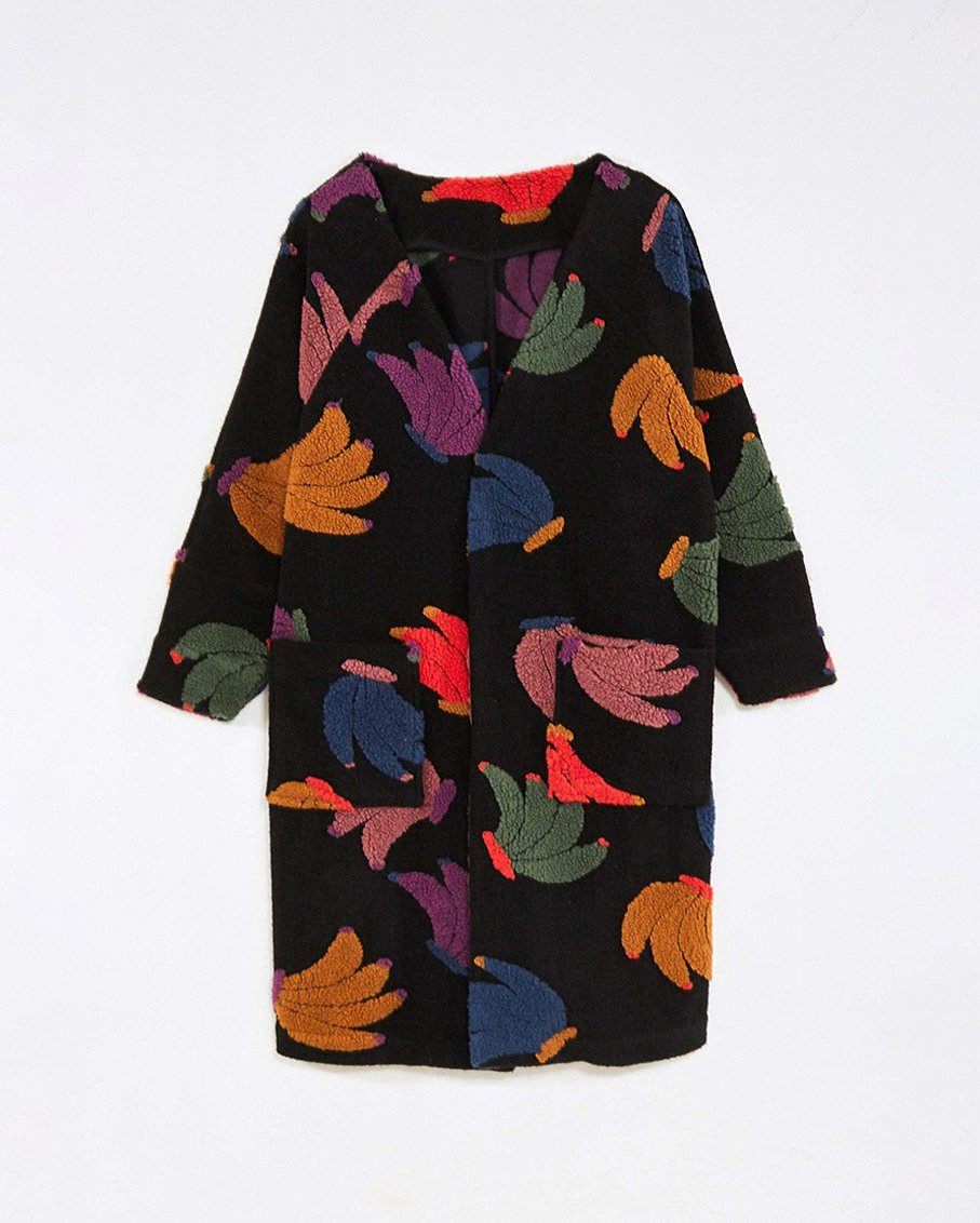 ROOSTER CROSS STITCH EMBROIDERED DRESS BANANGOLA