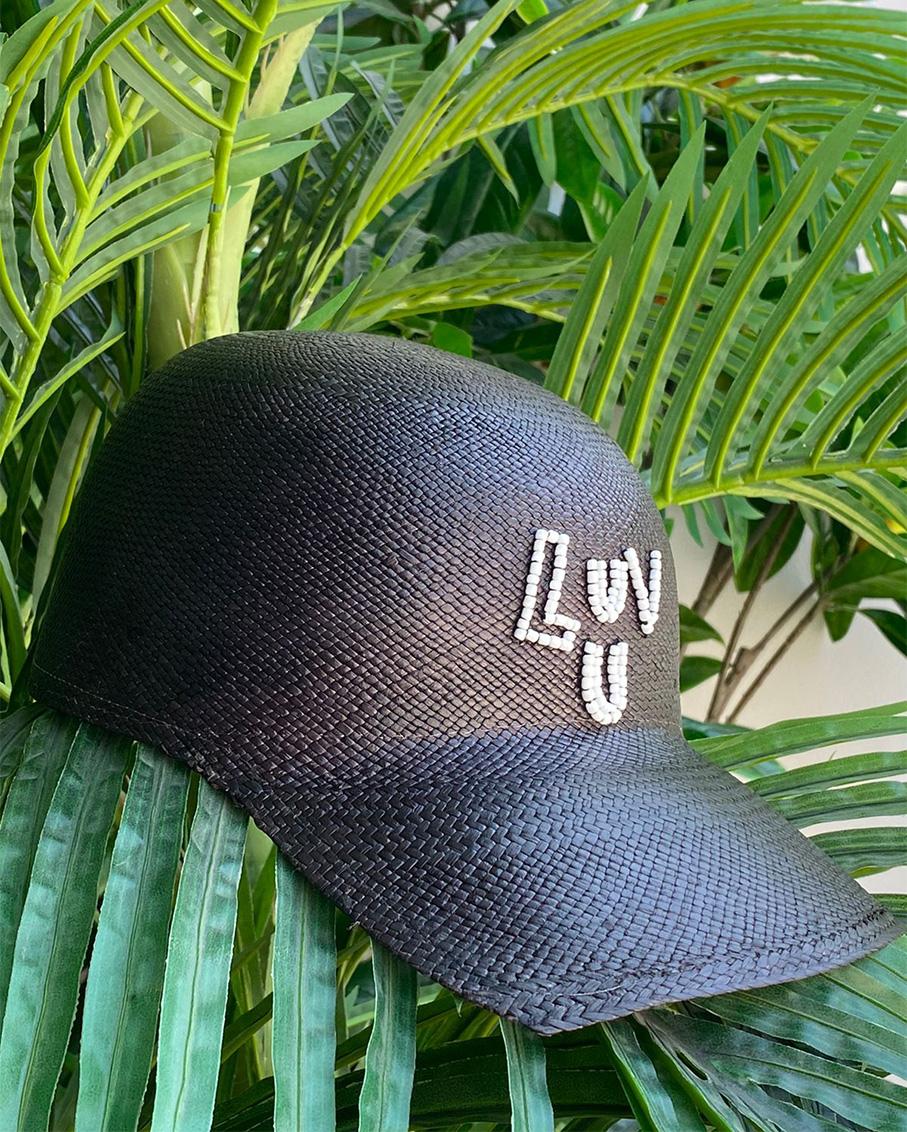 LUV U SOHO CAP BLACK